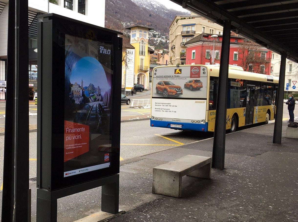APG|SGA Allgemeine Plakatgesellschaft AG Rail-ePanel Bellinzona