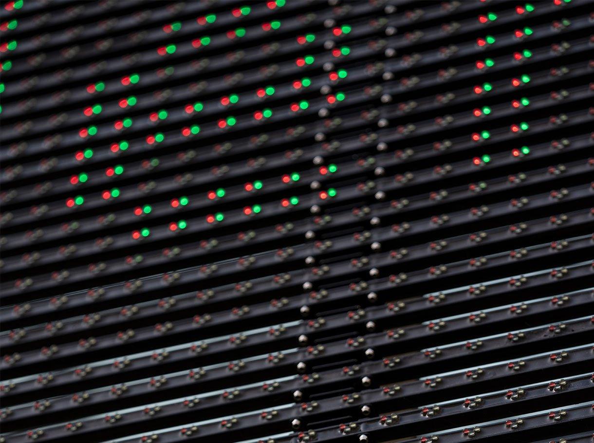 Schauspielhaus Zuerich Schiffbau LED-Raster aussen