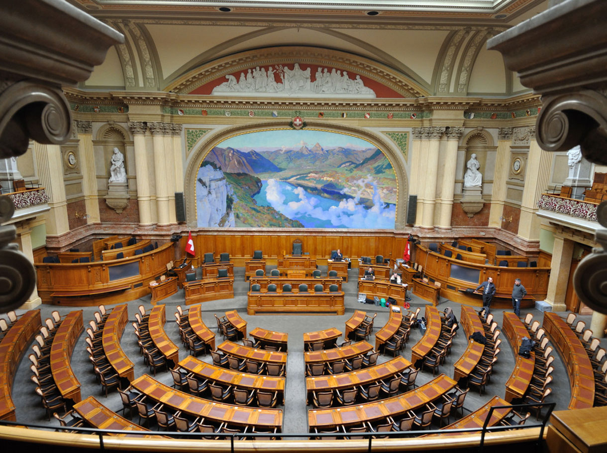 Referenzbild Bundeshaus Bern, Nationalratssaal