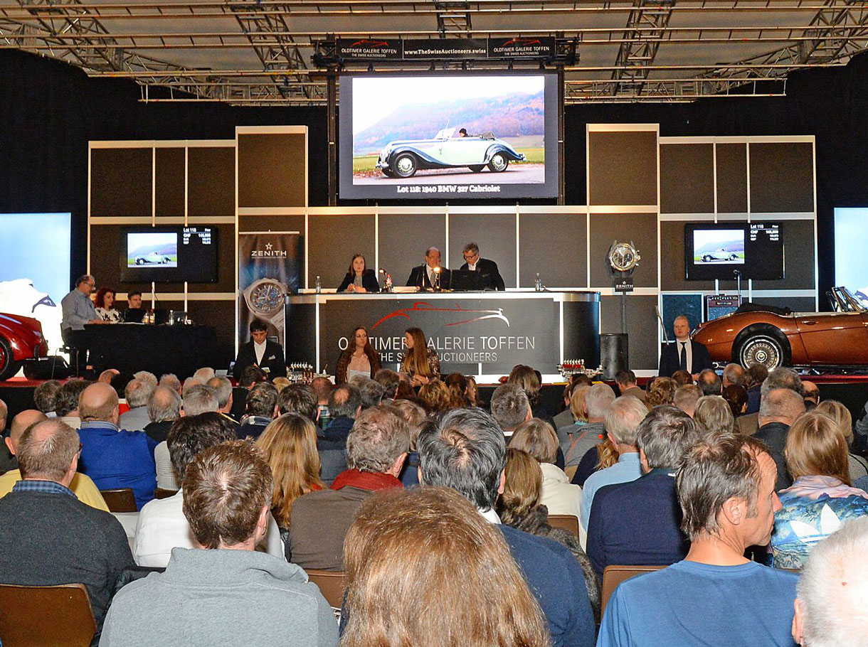 Referenzbild Classic Car Auction 2019 in Gstaad