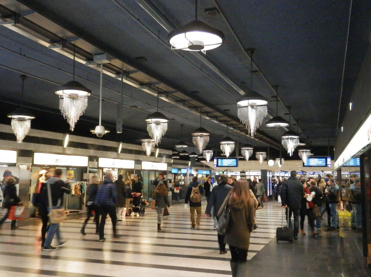 Referenzbild SBB AG, AV-Beschallungsanlage Hauptbahnhof Zürich