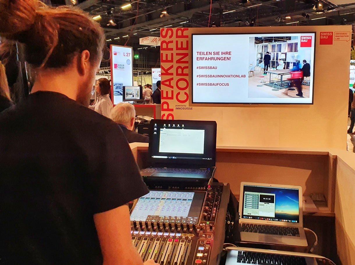 Referenzbild Swissbau Innovation Lab 2020 - Speakers Corner