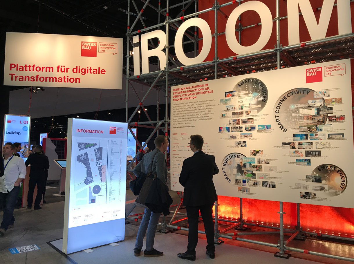 Referenzbild Swissbau Innovation Lab 2020 - iRoom