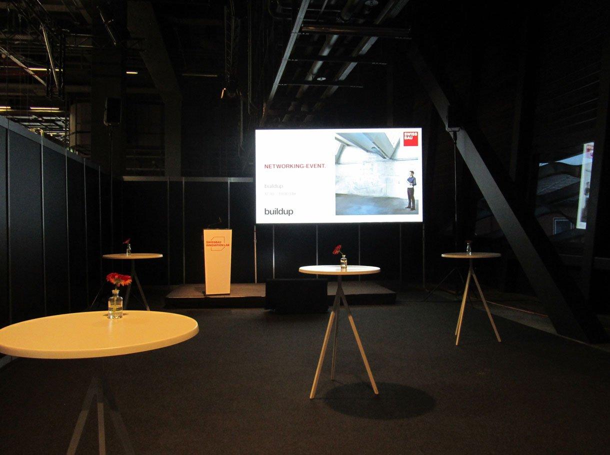 Referenzbild Baumesse Swissbau Basel, Display