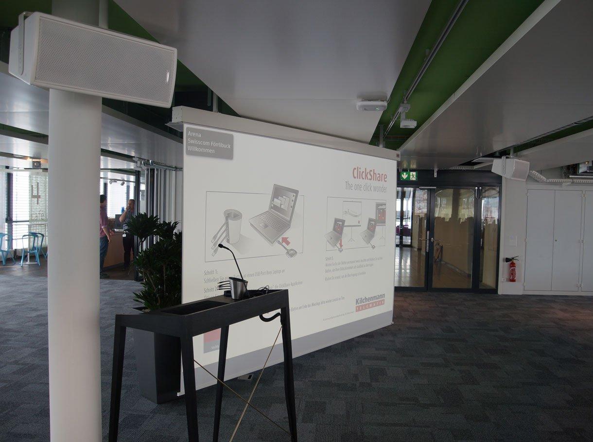 Referenzbild Swisscom Foerrlibuck, Auditorium