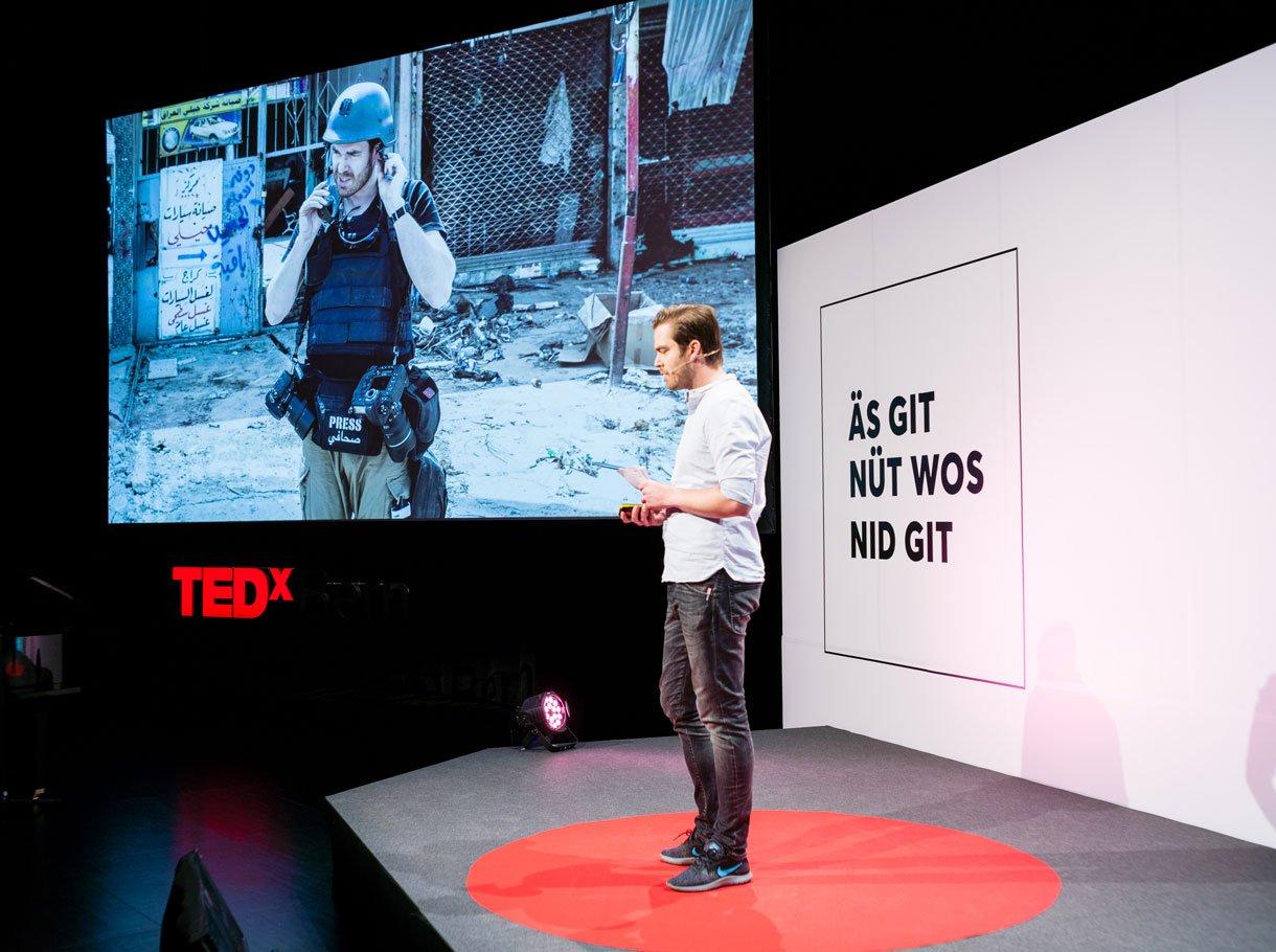 Referenzbild TEDxBern, Bühne