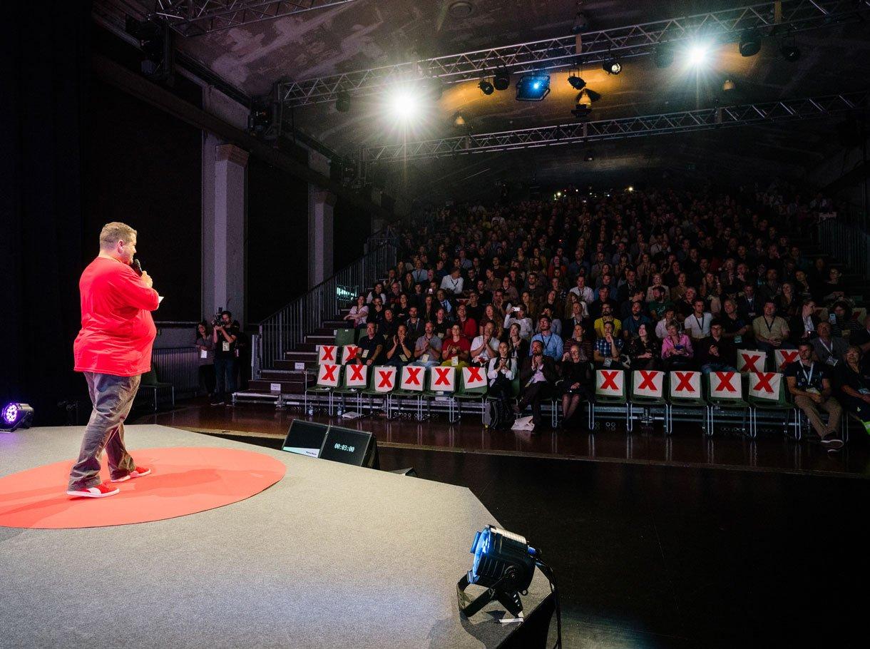 Referenzbild TEDxBern, Speaker