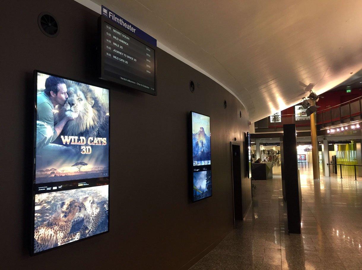 Referenzbild Verkehrshaus der Schweiz Luzern, Displays