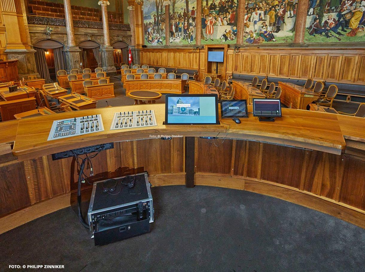 Referenzbild Bundeshaus Bern, Ständeratssaal