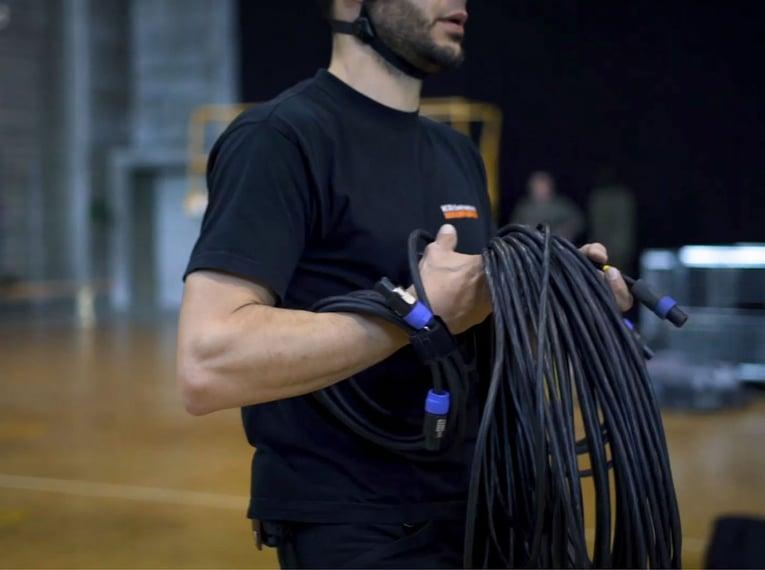 Veranstaltungstechnik - die Reise eines Stromkabels