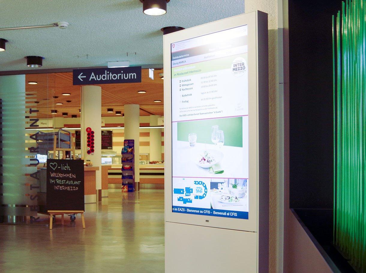 Digitale Wegleitung Mensa EAZS Eidgenössisches Ausbildungszentrum, Schwarzenburg