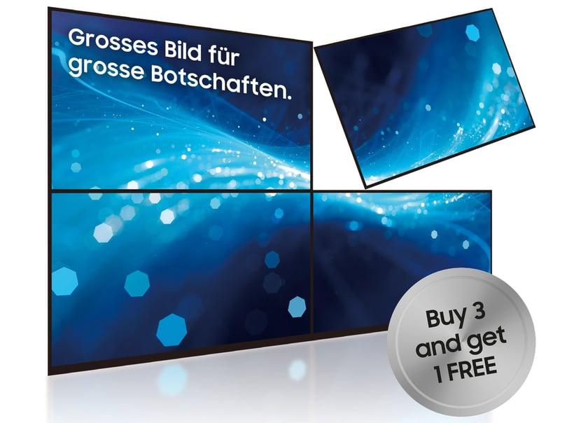 Samsung VideoWall mit 4 Bildschirmen